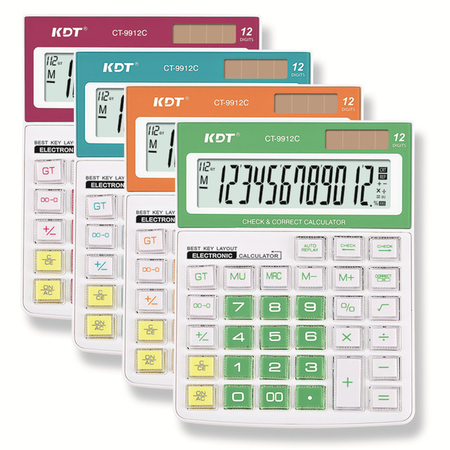 2017 newest 12 digit check and correct calculator for sale