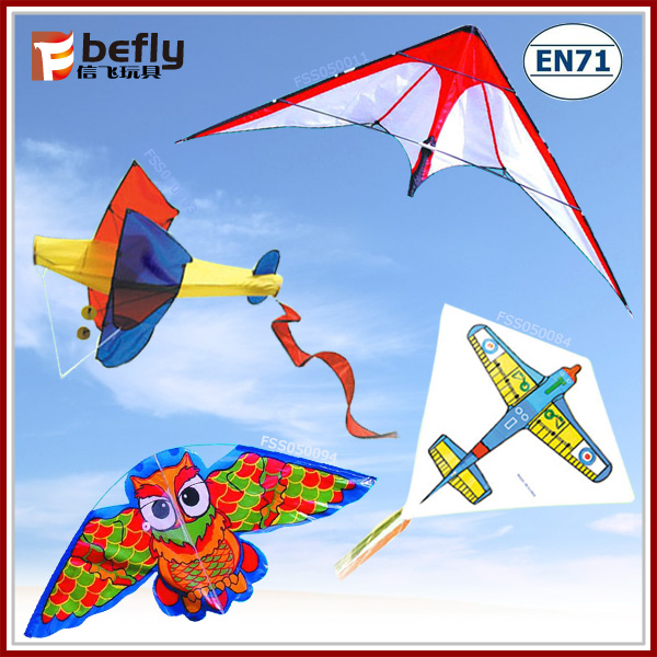 Outdoor toy plastic flying kites