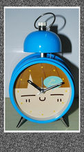 sweep movement watch , metal single bell alarm clock with light