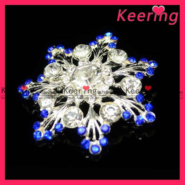 crystal bouquet flowers channel brooch WBR-801