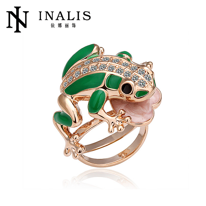 2014 fine quality 18k gold ring frog shaped <strong>R015</strong>