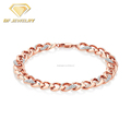OEM Jewelry Plated Rose Gold Pave CZ Stone Women Bracelet
