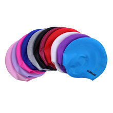 Adult protect- ear series safety and comfortable silicone swim cap over ears (HE-01)