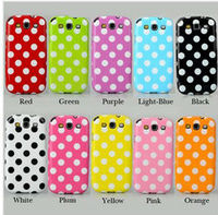 Hot selling Lovely Polka Dots TPU Soft Case Cover Skin For iPhone 4 4S 4G CM114, DHL free shipping