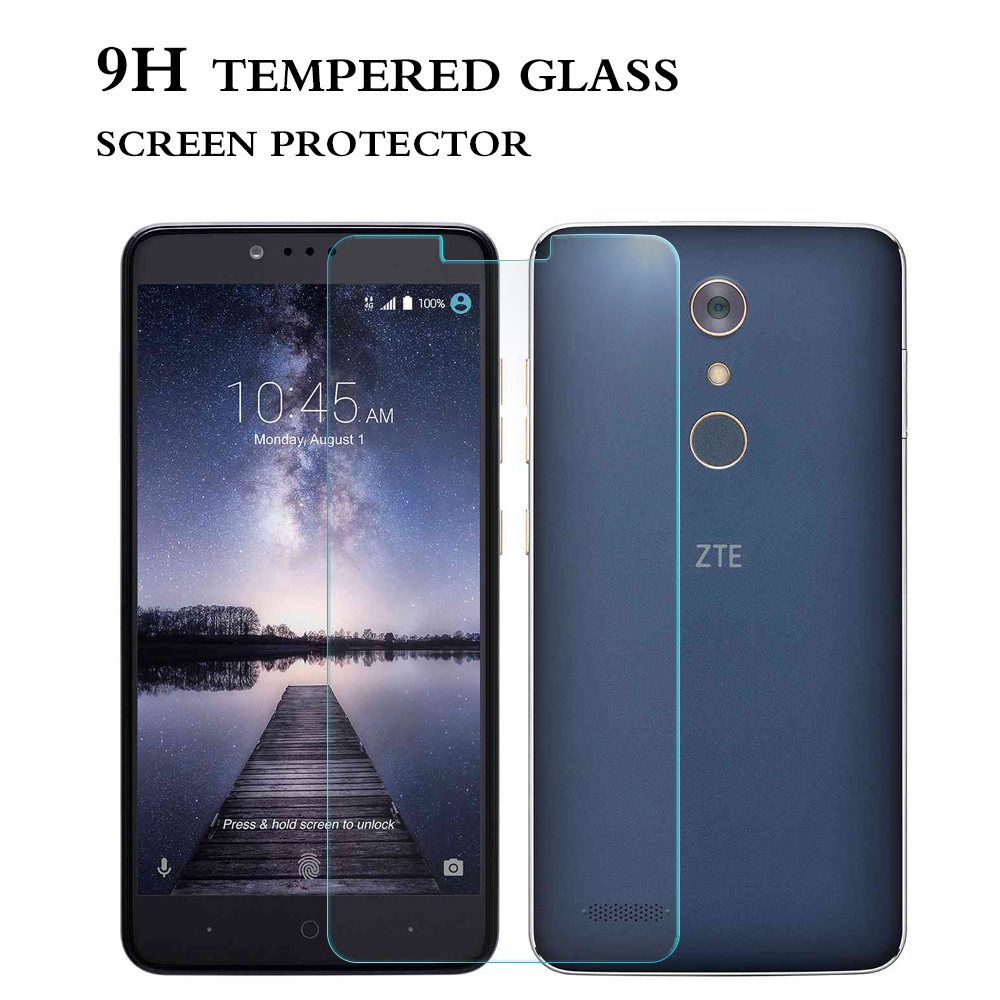 Ultra clear anti- fingerprint tempered glass for ZTE Zmax Pro screen protector