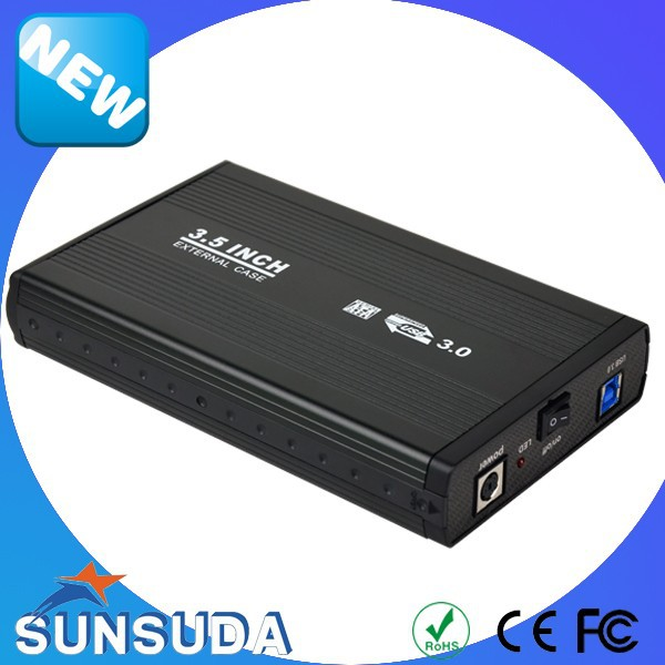 China manufacture High Speed External Case Usb3.0 Sata 3.5 Inch Hdd Enclosure