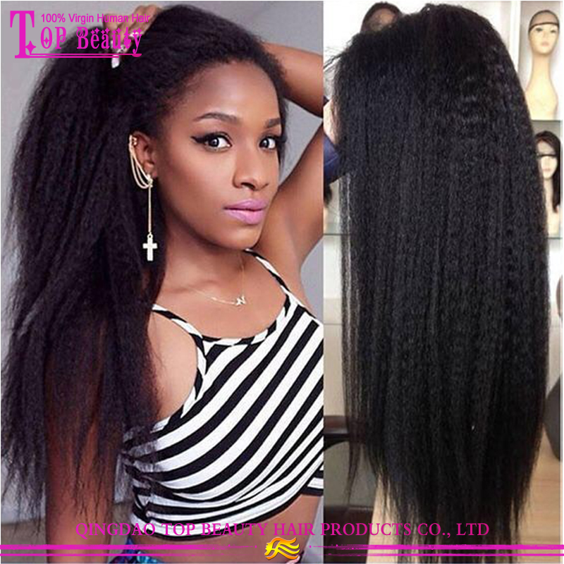 China Wholesale Express Alibaba Mongolian Kinky Straight Full Lace Wigs For Black Women