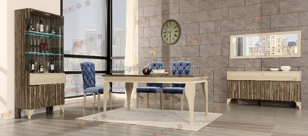 EUROPEAN STYLE FURNITURE DINING ROOM TABLE AND CHAIR SET
