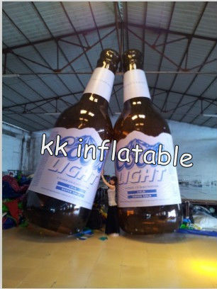 sealed PVC giant inflatable beer bottle model/shape