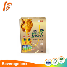Specilaized design factory paper carton box for peanut oil packing