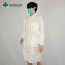 Disposable microporous anti static acid resistant lab coat for surgical hospital