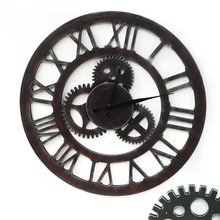 Background Wall Decoration Industrial Wind Mechanical Hanging Gear Clock