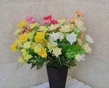 2014 Hot Selling rose Bouquet Mini Artificial Silk Flowers