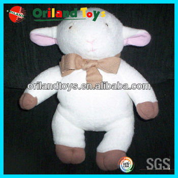 "8"" STUFFED LAMB 100% ORGANIC COTTON TOY"