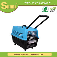 Lastest design plastic dog kennels with wheels