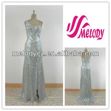 Fashion sequin one shoulder designed by zuhair murad dresses for sale
