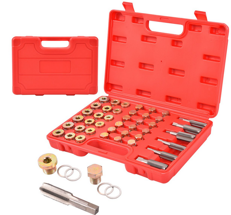 114 Pcs Oil Pan Drain <strong>Sump</strong> <strong>Plug</strong> Key Thread Repair Tool Kit Set Drain <strong>plug</strong> Auto Tools 5sets
