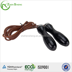 Leather Gym Skipping Jump Speed Rope Weighted Fitness Training Workout Exercise