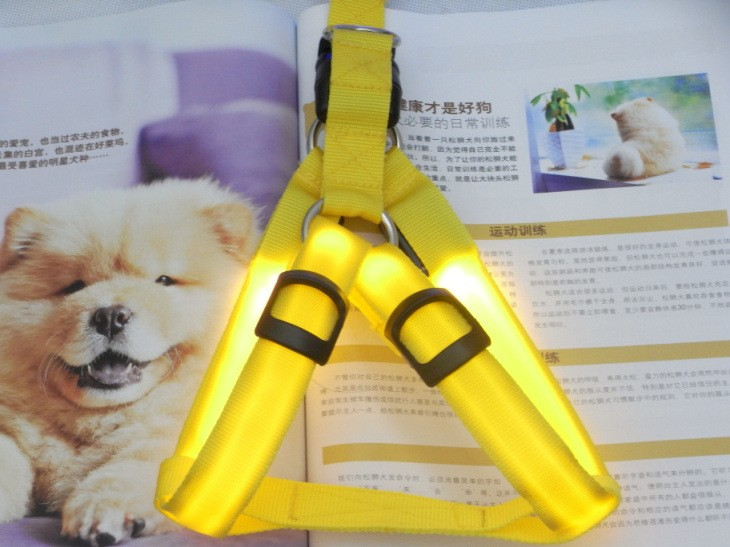 yellow lighting pet collar making supplies led dog harness