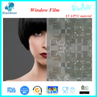 Eco Series colorful non adhesive anti-uv privacy static glass window film