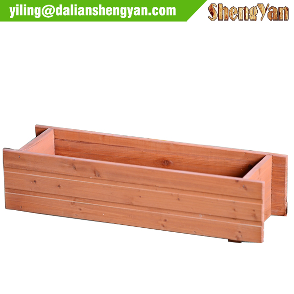2015 wholesale Long Flower Pot Garden Wood Flowerpot