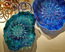 Murano Hand Blown Glass Decorative Plates for Wall Hanging light