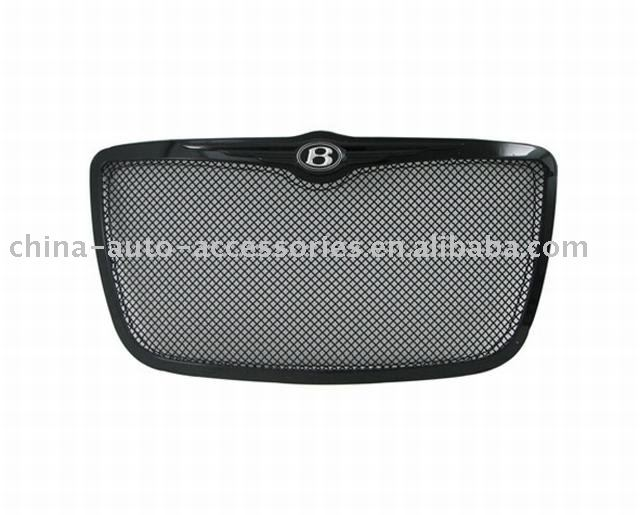 05-08 Chrysler 300C Chrome Black Steel Wire Mesh (2.0mm) Packaged Grille