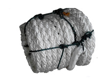 dan line super PP hawser rope with 6ft splice eye and canvas protected both ends for ship