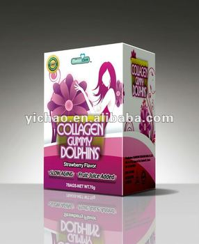 new product for 2014 dolphin shape gummy collagen supplement candies