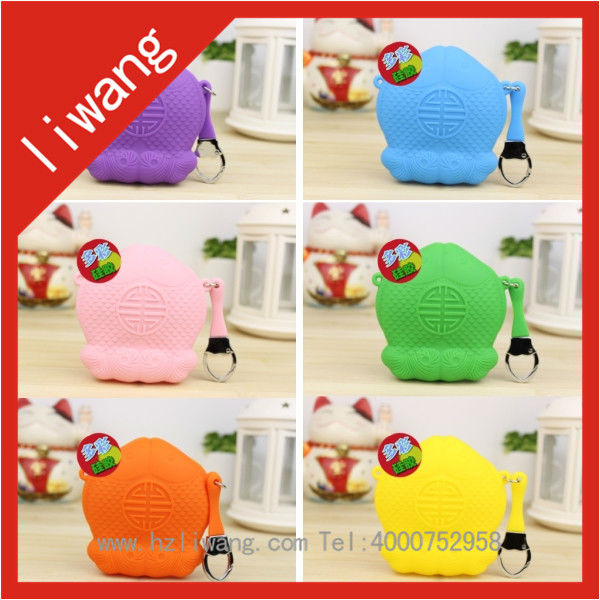 2014 Free Sample New Arrival Silicone Coin Purse