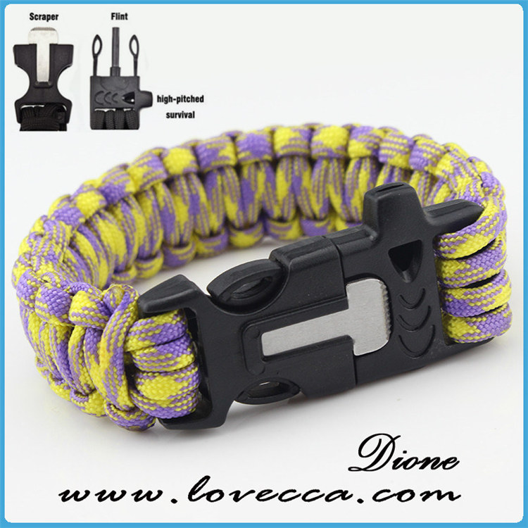 latest design wholesale 350 4 in1 paracord bracelet clasp