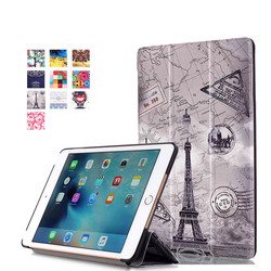Hot selling Fashional painting flip leather tablet case for Apple iPad Mini 4 with sleep fuction