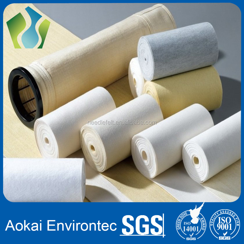 China manufacturer nonwoven needle felt of polyester /aramid /acrylic /pp/ pps /ptfe /fiberglass