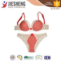Hot Sale China Fashion Sexy Hot Girl Bra and Panty Set Underwear