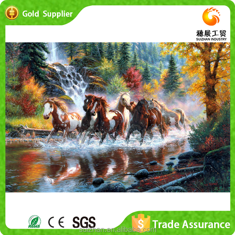 Eight horses painting design handmade 5d diamond painting wholesale diamond embroidery