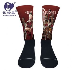 Thigh High Socks Nylon High Elasticity Non-Slip Fashionable Basketball Women Knee High Custom Compression Socks
