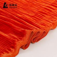 Manufactory wholesale multicolor 4 way stretch crepe velvet ombre fabric