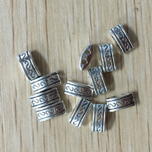 ALP1102 Zinc alloy metal bracelet beads / flat metal beads for jewelry making