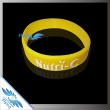 popular but cheap music silicone rubber wristbands