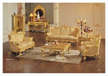 china factory wooden carved luxury European sofa set living room furniture