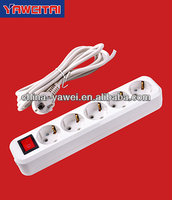 europe extension socket 5 gang extension socket with earthing and switch/socket with grounding