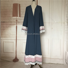 Sexy ladies long sleeve open abaya pattern maxi dress wholesale muslim women dubai abaya islamic clothing