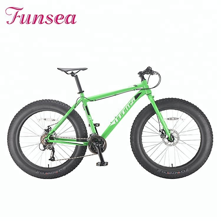 "Green 27 speeds snow big tire bicycle 26x4.0"" beach cruiser fat-bike fat bike <strong>cycle</strong>"
