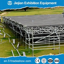 Modular adjustable flooring system for out door event tent