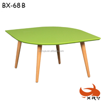 factory production colorful pretty leaf shape coffee table