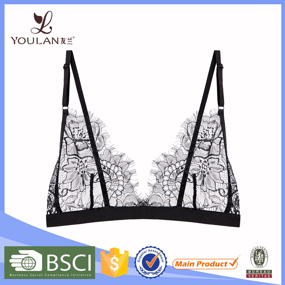 New Arrival Good Quality Girl Bralette Black Lace Big Women Sex Bra