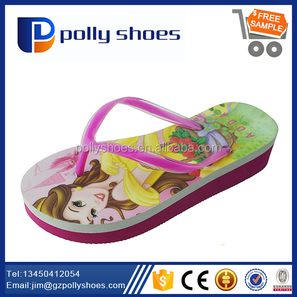 Newest Fancy Design Girls High Heel Beach Slippers