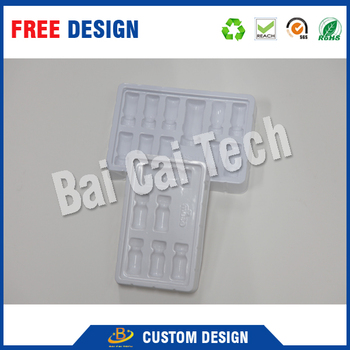 Ex-factory high quality customized packaging high temperature plastic trays for pharmaceutical
