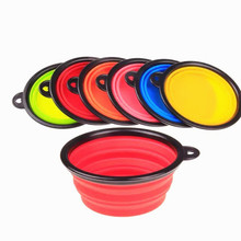 Wholesale Custom LOGO Travel Collapsible Pet Water Food Bowls Silicone Dog Bowl