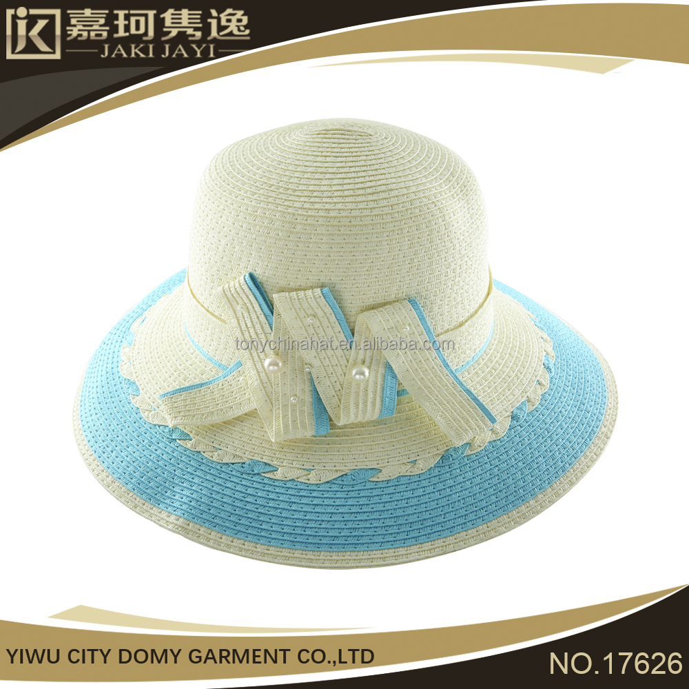 Wholesale Custom cheap Fashion High cloche womens straw hat